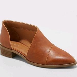 Universal Thread Cut Out Booties Cognac Color